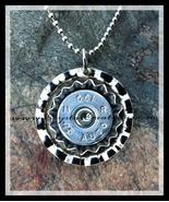 The Original Chic Bullet Pendant in Silver Tone - $12.00