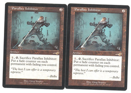 Parallax Inhibitor x 2, LP, Nemesis, Rare Artifact, Magic the Gathering - $0.90 CAD