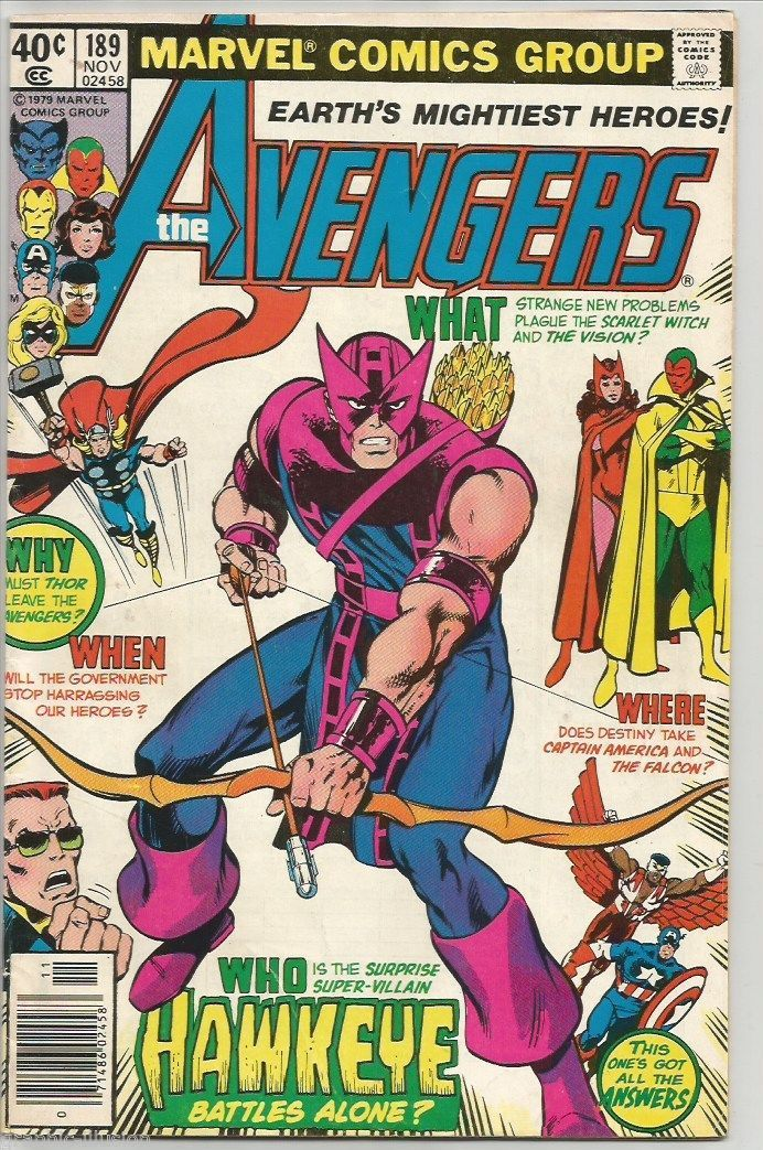 AVENGERS #189 Marvel Comics 1979 Thor Iron Man VISION Falcon BYRNE Hawkeye VF