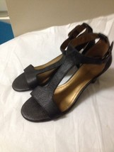 Womens Black T Strap Nine West Heels Size 7  - $14.84