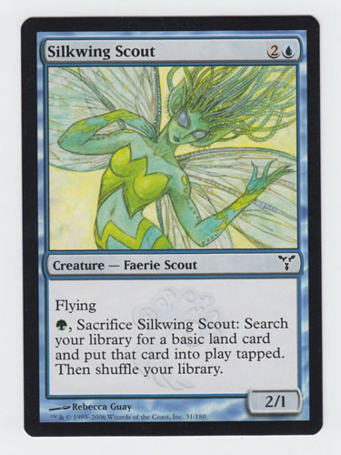 Silkwing Scout x 1, LP, Dissension, Common Blue, Magic the Gathering