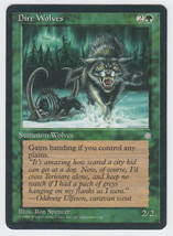 Dire Wolves x 1, CI, Ice Age, Common Green, Magic the Gathering - $0.40 CAD