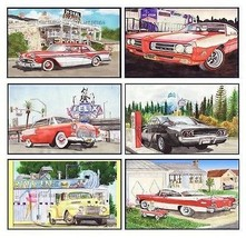 6 Classic Car Magnets - Set A - $19.98