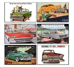 6 Classic Car Magnets - Set C - $19.98