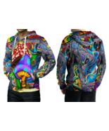 DMT Magic Mushroom Abstrak Hoodie Fullprint Men Hoodie Fullprint Men - $44.99+