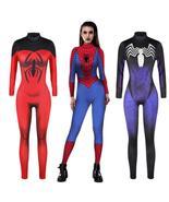 Jumpsuit Catsuit Character Sexy Cosplay Costumes Halloween Spider-Manwomen - $29.81