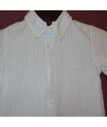 Dress Shirt Button Down Blue White Striped Size 4T George Short Sleeve Boys - $9.99