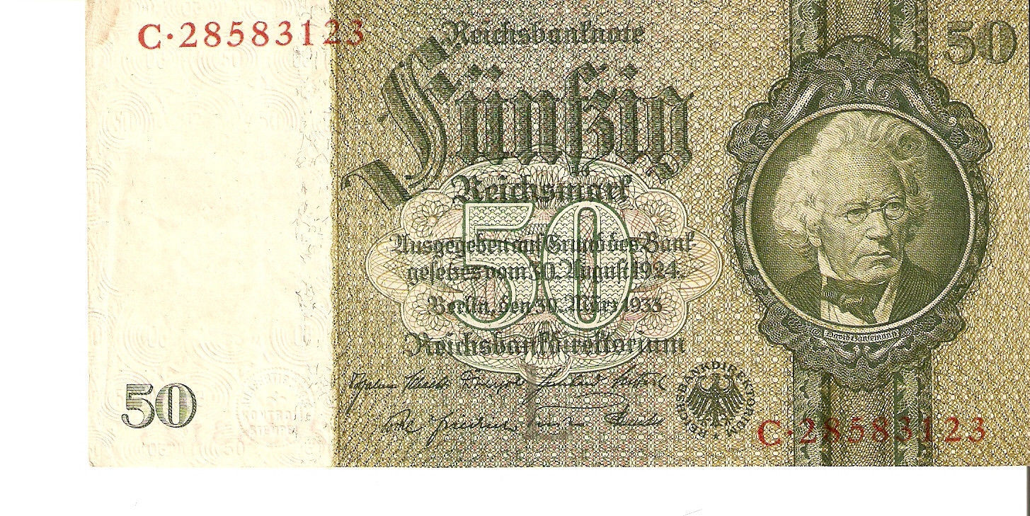 Primary image for nfa. Germany banknote Berlin 50 Reichsmark Mark 1933 - Ser. C.28583123