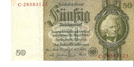 nfa. Germany banknote Berlin 50 Reichsmark Mark 1933 - Ser. C.28583123 - $15.00