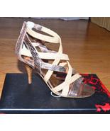 CARLOS SANTANA Gold Strap Shoes Hills Pumps Nouvelle Dress Sandals sz 7.... - $69.27