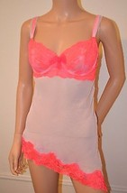Victoria's Secret $68 Pink Coral Lace Camisole Slip Babydoll 36 C New Vs - $59.37