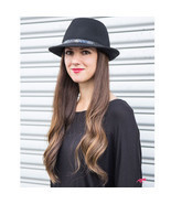 ADORNA by MILANO Kylie 2 II Women Small Brim Wool Ladies Fedora Hat - Black - $88.74 CAD