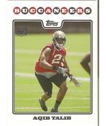 Aqib Talib Topps 2008 #426 Rookie Card Tampa Bay Buccaneers Dener Broncos - $0.50