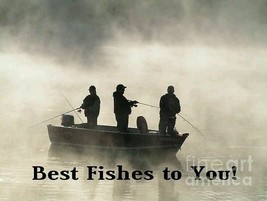 #999 Best Fishes to You Men Fishing Lund  Boat  Robin Lee McCarthy Greet... - $4.99