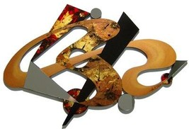 LARGE Stylish Contemporary Designer Abstract Wall Sculpture Mirror, Exot... - $349.99