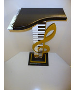 Stunning & Unique Music table floor sculpture , clef note and piano tabl... - $449.99