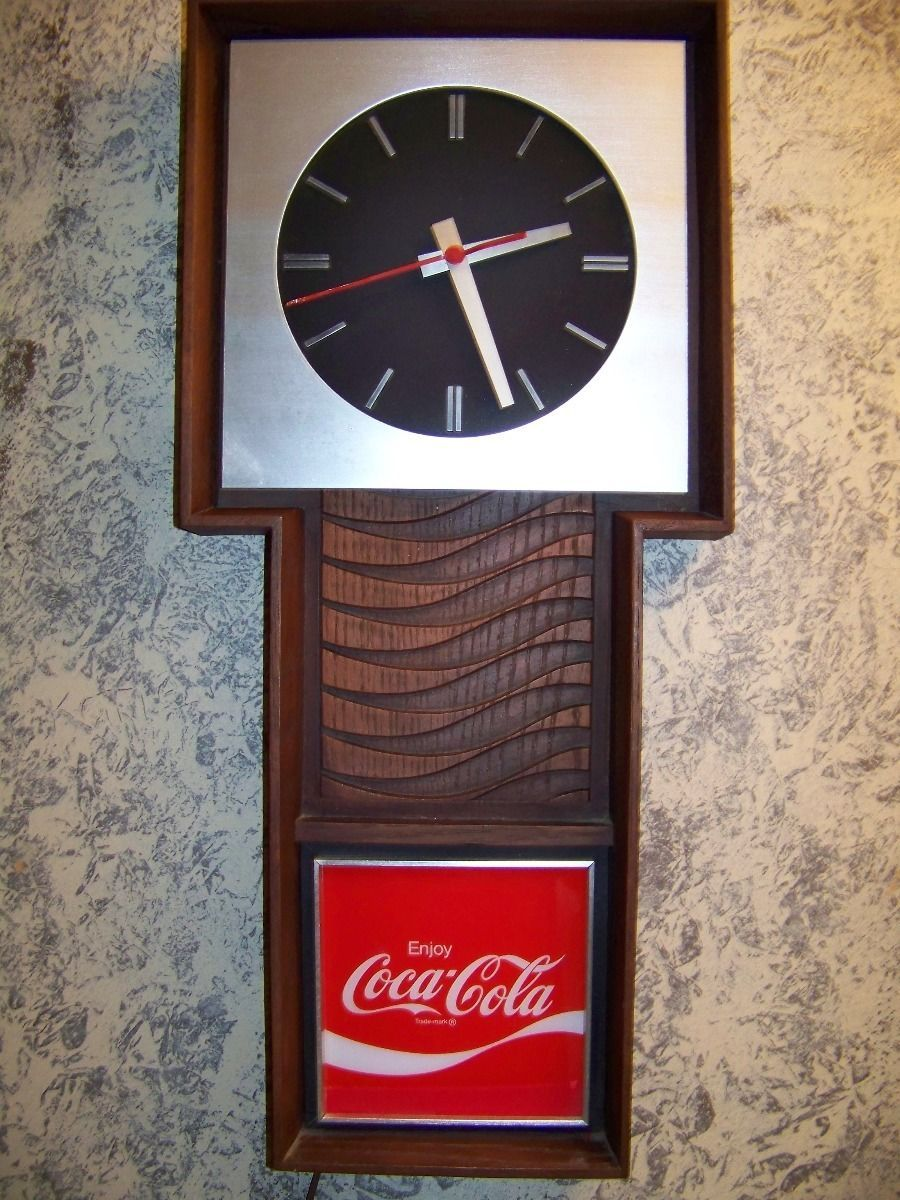 Vintage Enjoy Coca Cola Sign Large Electric Wall Clock