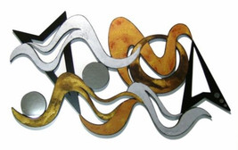 Funky Modern Textured Abstract Art Wall Sculpture 43x24  by Alisa R.Tarp... - $375.00