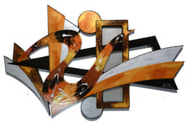 Stylish Warm Sands Contemporary Modern Abstract Art Wood Wall Sculpture ... - $299.99