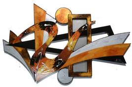 Stylish Warm Sands Contemporary Modern Abstract Art Wood Wall Sculpture ... - $299.99
