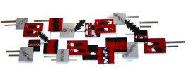 HUGE Modern Abstract Red & Black Wall Sculpture, Bold and Stunning Conte... - $599.99
