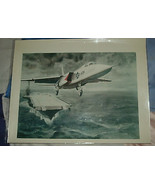 2 USAF COLOR 8X10 PHOTOS BOMBER AND JET FIGHTER 1970'S  - $9.50