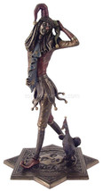 """Court Jester with Duck (Cold Cast Bronze) 13"""" High Statue - $84.28"""