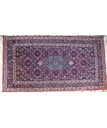 """32""""x62"""" WOOL HANDKNOTTED RUG DEEP RED GREY, OFF WHITE MEDALLION DESIGN B... - $500.00"""