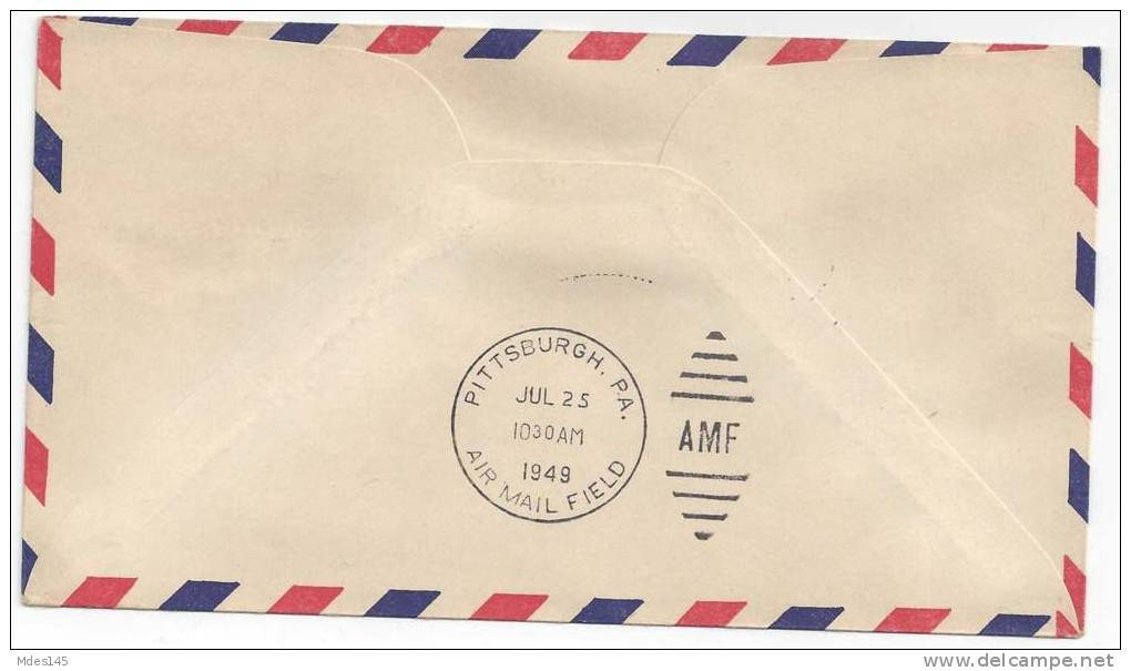 1949 AM 97 First Flight Cover Pittsburgh PA Buffalo NY Segment No. 4 FFC