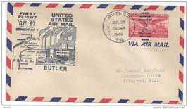 FFC 1949 AM 97 First Flight Cover Pittsburgh Buffalo Seg 4 Butler PA Dun... - $6.99