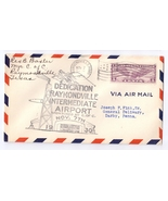1930 Airport Dedication Raymondville Texas Intermediate Signed Airmail C... - $6.99