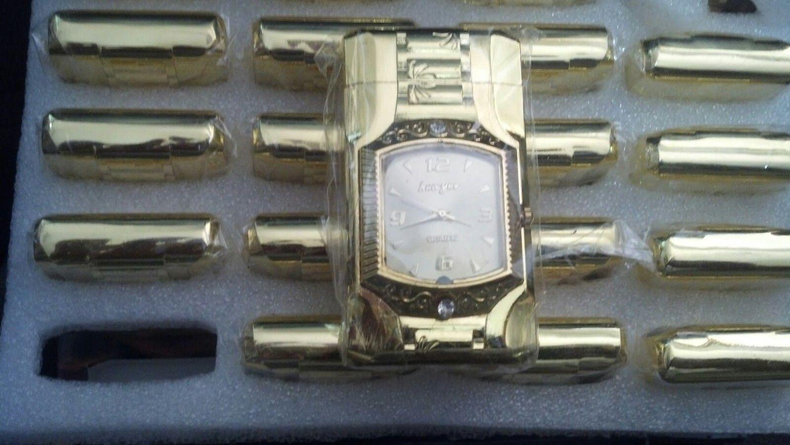 Luxurious Watch Cigarette Lighter Butane Gas Watch Lighter with LED Light - 1 pc