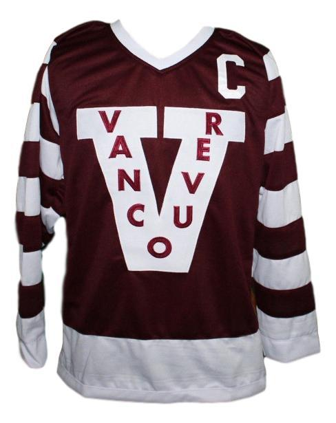 Custom Name # Vancouver Millionaires Hockey Jersey Brown Henrik Sedin Any Size