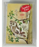HOYLE Jumbo Face Playing Cards Owl On Branch Cardback In Hard Case - $5.89