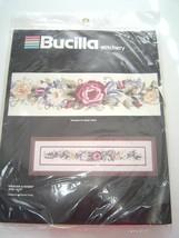 "Bucilla Stitchery Ribbons Roses 40311 Cross Stitch 4x22"" Kit Vintage NIP - $29.99"