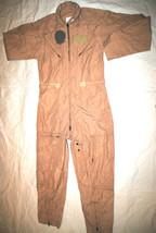 New Genuine Us Air Force Tan Nomex Flight Suit Cwu 27/P Khaki   40 L #1 - $103.95