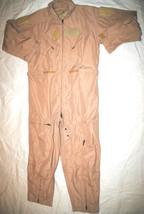 New Genuine Us Air Force Tan Nomex Flight Suit Cwu 27/P Khaki   46 R - $103.95