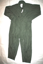 Nwt Us Air Force Nomex Fire Resistant Flight Suit Green Cwu 27/P   44 R #2 - $113.85