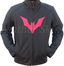 Batman Style Men Black Shoulder Quilted Premium Genuine Pure Real Leather Jacket - $179.99