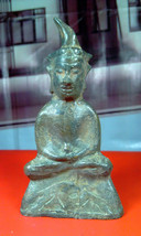 Very Rare! Holy Ancient Phra Ngang Khmer 400 Years Top Thai Buddha Amulets - $19.99