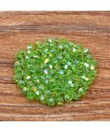 100pcs Swarovski crystal  4mm bicone Beads apple green - $6.00