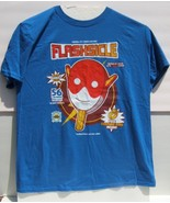 DC CW Flashsicle Barry Allen Short Sleeve Blue T-Shirt Large Size Brand New - $19.95