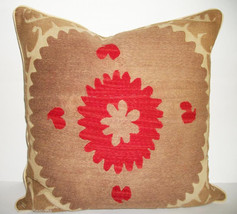Vintage Bolinpush Suzani Accent Pillow Circa 1930's - $285.00