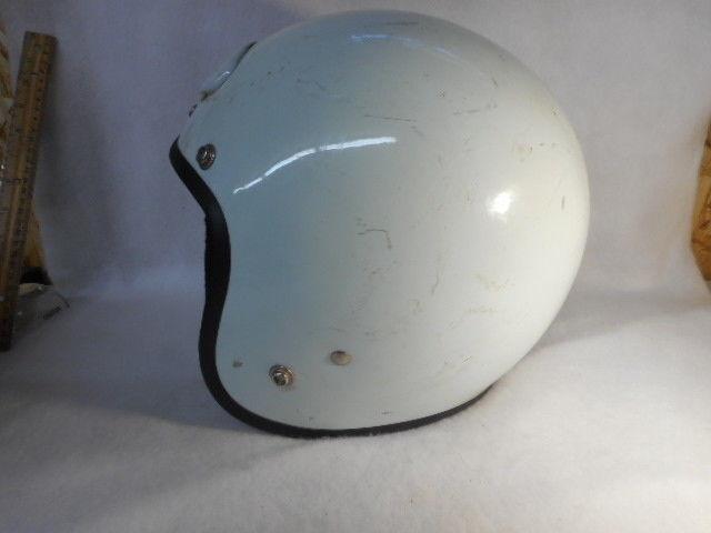 Vintage White Bell II 2 Helmet Motorcycle Car Racing Large