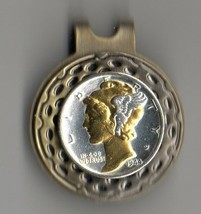"Mercury Silver Dime ""Gold & silver bust""  Coin Golf Marker - $70.00"