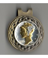 """Mercury Silver Dime """"Gold & silver bust""""  Coin Golf Marker - $70.00"""