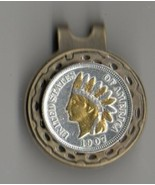 "Indian Head Penny 2-Toned ""Gold & silver bust"" coin golf marker - $66.00"
