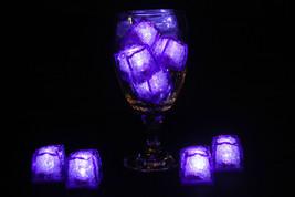 Set of 8 Litecubes Jewel Color Tinted Amethyst Purple Light up LED Ice C... - $24.45 CAD