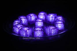 Set of 12 Litecubes Jewel Color Tinted Amethyst Purple Light up LED Ice ... - $36.06 CAD