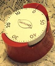 VTG Mirro 60 Minute Kitchen Timer-Red-USA - $11.00